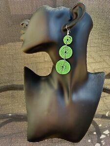 Earrings Dangle Drop Beaded African MAASAI Masai Ethnic Tribal Kenya handmade