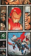Ironman Thor Avengers The Hulk Marvel Kids Quilting Fabric Panel Multicolour