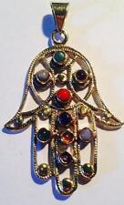 Ethnic Pendant Stones Boho Hippy Indian Jewellery Fair Trade Fatima Hand Hamsa