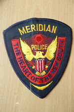 Patches: THE HEART OF THE NEW SOUTH, MERIDIAN POLICE PATCH (NEW* apx. 11x10 cm)