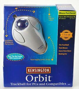 VINTAGE 1997 NEW Kensington Orbit Trackball Mouse PORT/SERIAL for PC Model 64221