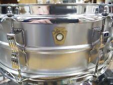 """Vintage Ludwig Super Sensitive 5x14"""" Snare Drum Sept 5 1969 Keystone Badge"""