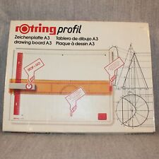 ROTRING RAPID A3 Drawing Technical Board Complete Ruler Vintage German Boxed Set