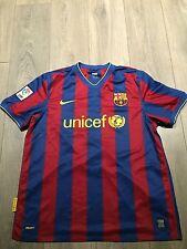 BARCELLONA HOME Camicia 2009/10 x-Large messi 10 UFFICIALE RARO