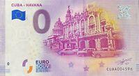 BILLET 0 EURO   CUB*  HAVANA LA HAVANE  2019-1 N°  DIVERS
