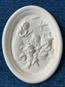 Disney's  Snow White scene with Dwarfs ceramic bisque u paint ready to paint