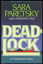 Fiction: DEADLOCK by Sara Paretsky. 1984. Signed 1st edition.