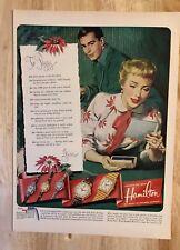 Original Print Ad 1951 HAMILTON Watch Christmas Letter Vintage
