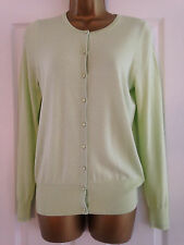 BNWT M&S Collection Soft Lime Green Button Up Long Sleeved Cardigan