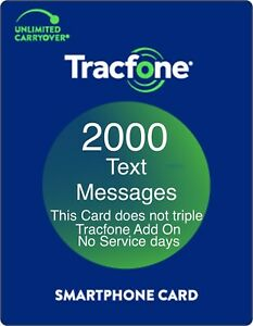 TracFone 2000 Text Message Add On Refill Card for SmartPhone. Directly and Fast.