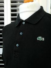 """Lacoste Black Textured Polo Shirt - XXL - Size 8 - 50"""" - Ska Mod Scooter Casuals"""
