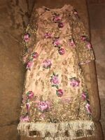 DOLCE & GABBANA WEDDING EVENING COCKTAIL RUNWAY FLOWERS EMBROIDERY GOWN DRESS NW