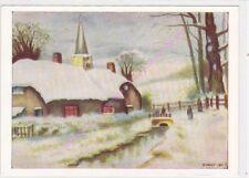 CP ART TABLEAU R.HEXT Paysage d'hiver