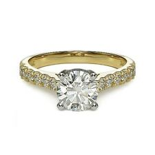 2.74ct D SI1 ROUND BRILLIANT CUT DIAMOND ENGAGEMENT RING 14K YG