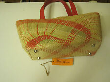 NEW  WITH TAGS FROIGENE MADE & HAND WEAVED IN THE PHILIPPINES  STRAW PURSE