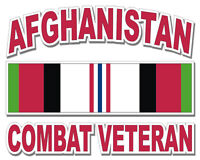 "Afghanistan Combat Veteran 3.8"" Window Sticker / Decal 'Officially Licensed'"