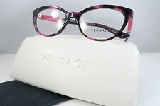 Versace MOD 3219-Q 5040 Pink Havana/Gold New Authentic Eyeglasses 54mm w/Case
