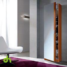Mueble Zapatero con puerta cristal espejo, armario zapatero color Cerezo Castaño
