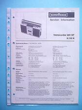 Service Manual-Anleitung für Nordmende Transcoder 881 ,ORIGINAL