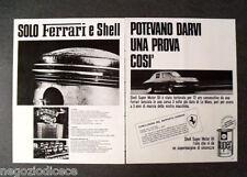 [GCG] P371 - Advertising Pubblicità -1966- SHELL SUPER MOTOR OIL FERRARI E SHELL