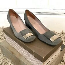 Vintage 1960s Christian Dior Gray Suede Womens Shoes