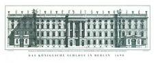 Andreas Schlüter Das königliche Schloss Berlin Poster Kunstdruck Bild 121x56,5cm