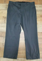 Axis LA Dress Pants Flat Front Charcoal Grey Stretchy Straight Leg Size 38 x 30