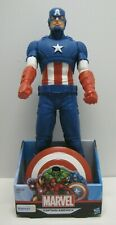 "Marvel Captain America Super Hero Movable Action Figure 18"" With Shield New"