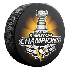 2017 NHL Pittsburgh Penguins Stanley Cup Champions Souvenir Hockey Puck