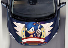 Sonic #1 Car Hood Wrap Full Color Vinyl Sticker Decal Fit Any Car