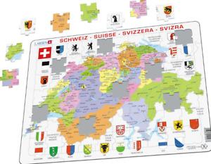 Political Map of Switzerland - Frame/Board Jigsaw Puzzle 29cm x 37cm LRS K43-CH