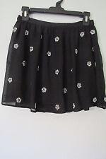 D-SIGNED Disney Black Floral  Embelished Chiffon Mini Skirt SIZE:S NWOT