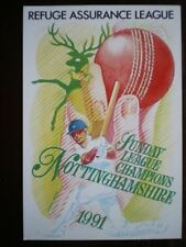 Nottinghamshire Unposted Single Collectable Sport Postcards