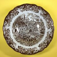 Royal Staffordshire JG Meakin Stratford Stage Round Serving Bowl Brown