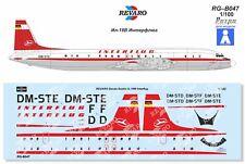 Revaro Decal IL-18W INTERFLUG for Plasticart model kit 1/100