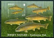 Jersey 2010 MNH Nature Freshwater Fish Brown Trout 1v M/S Fishes Stamps