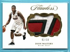 2016-17 Panini Flawless GOLD Dion Waiters #/10 SP 3-COLOR JERSEY PATCH - HEAT