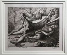 Grant Silverstein Etching Signed Art American Artist.