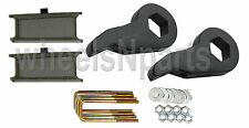 "Lift Kit Chevy Black Torsion Keys 3"" Fab Steel Blocks 1988 - 98 6 Lug Trucks SUV"