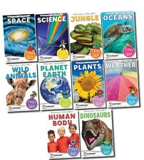 First Q&A 10 Books Miles Kelly Children Collection Set Dinosaurs, Human Body