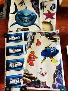 Findet Nemo Fensterfolie, 4 Bögen a' 69x100cm, 28 Motive, Walt Disney