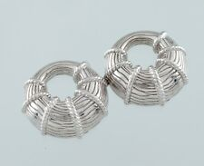 Charms Only does not include post Judith Ripka Sterling Silver Hoop Earring