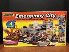 Matchbox 1994 Emergency City Police Fire Rescue Playset Factory Sealed Dela1330
