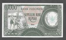 Bank Indonesia 10,000 rupiah 1964, Superb Mint Condition! - P456