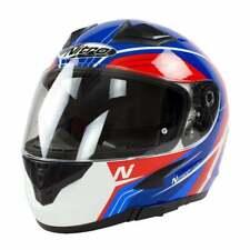 NITRO N2300 Pioneer Cara Completa Moto Motocicleta Casco-Rojo/Azul-X-Grande