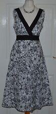 Linen V-Neck Floral Regular Size Dresses for Women