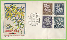 Andorra (Spanish) 1966 Flowers First Day Cover