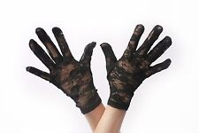 Gloves Lace Lace Gloves Ladies Short Black Gothic Victorian