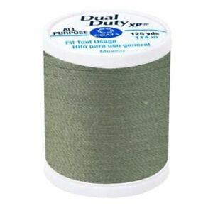 COATS AND CLARK DUAL DUTY XL GENERAL PURPOSE SEWING THREAD~GREEN LINEN~125 YARDS