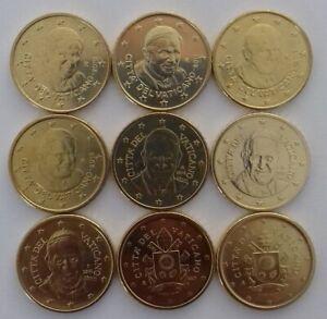 DISPO Toutes les pièces 50 centimes du VATICAN UNC. Choisissez de 2010 à 2019